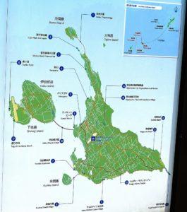 宮古島の地図およびマップ