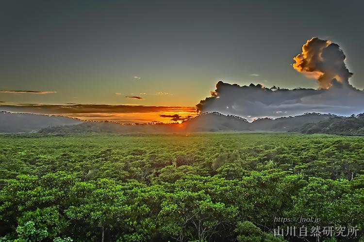 西表島の夕日